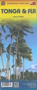 Picture of International Travel Maps - Fiji & Tonga Travel Map