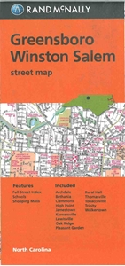 Picture of Greensboro, Winston-Salem NC street map
