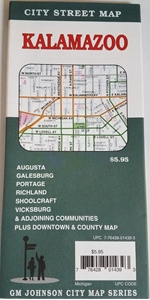 Picture of Kalamazoo & Portage, Michigan Street Map