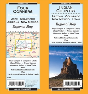 Picture of Four Corners and Indian Country regional map
