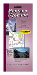 Picture of Montana/Wyoming State Road Map