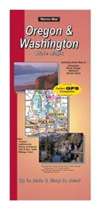 Picture of Oregon/Wasington State Road Map